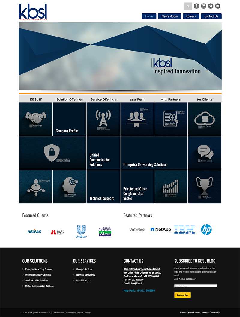 KBSL IT Corporate Website